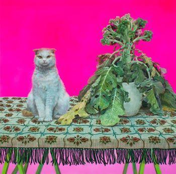松崎綾子さんの吾輩の猫展作品