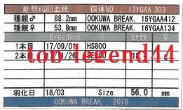 WK17YGAA303♀56.0管理カード11