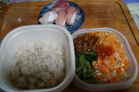 180911 お昼ご飯 ビビンバ・お寿司