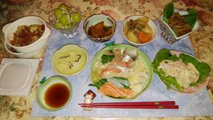 180911 晩御飯 煮物・サラダ等作りました