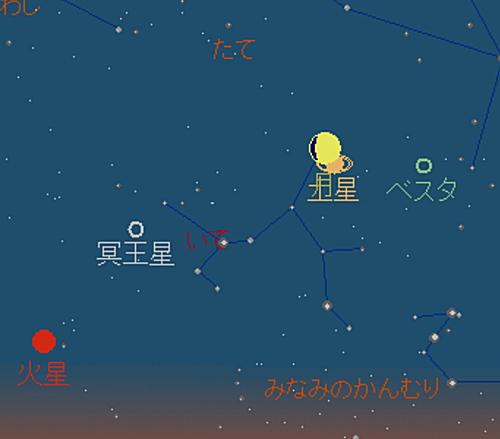 20180821 月と土星の大接近星図2