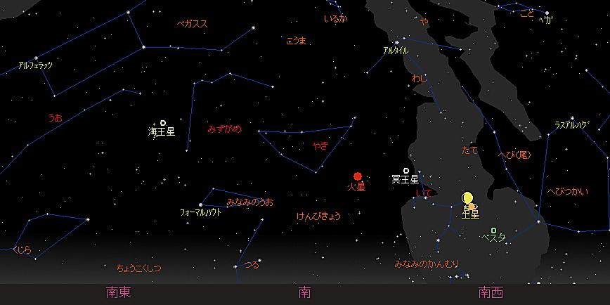 20180821 月と土星の大接近星図3