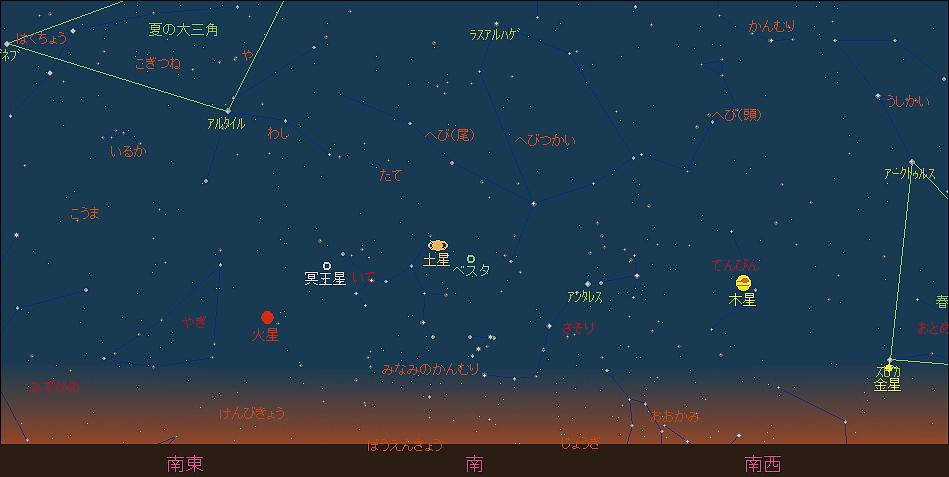 20180901 金星とスピカと秋の空と星図5