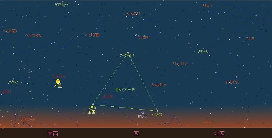 20180901 金星とスピカと秋の空と星図4