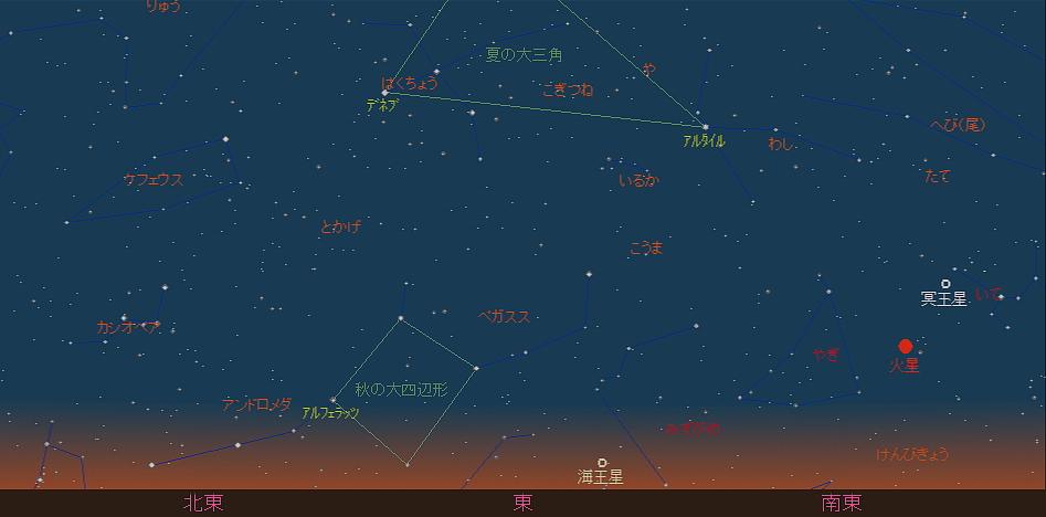 20180901 金星とスピカと秋の空と星図3
