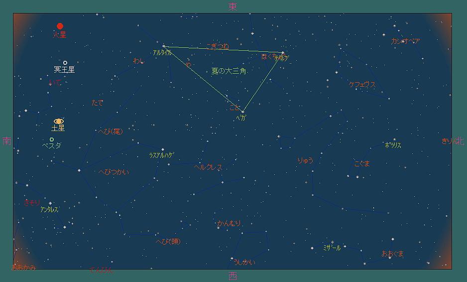 20180901 金星とスピカと秋の空と星図7