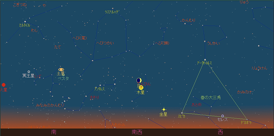 20180914 月と木星の接近星図2