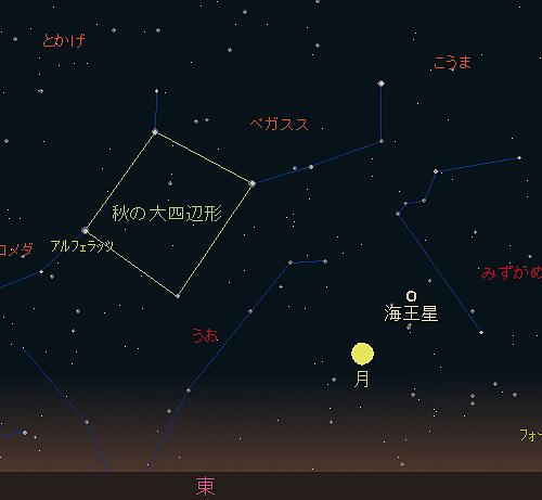 20180924 中秋の名月(十五夜)星図1