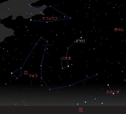 20181009 10月りゅう座流星群星図1