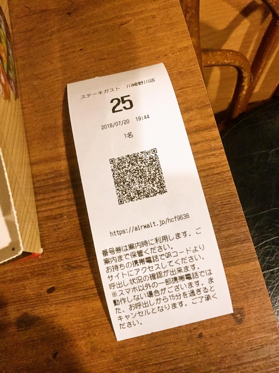 ステーキガスト川崎野川店(メニュー)