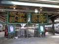 Departure board of NJT commuters.