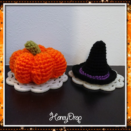 かぼちゃ魔女帽子