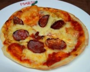 ペパロニのピッツァ