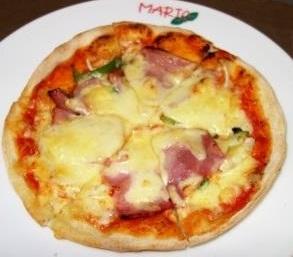 ベーコンと野菜のピッツァ