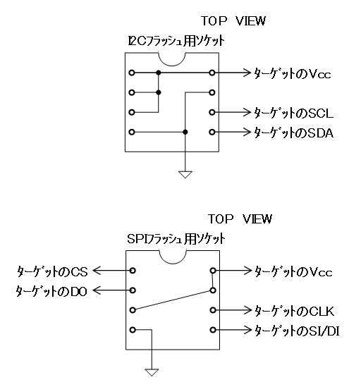 シリアルフラッシュROMライターの製作回路図2
