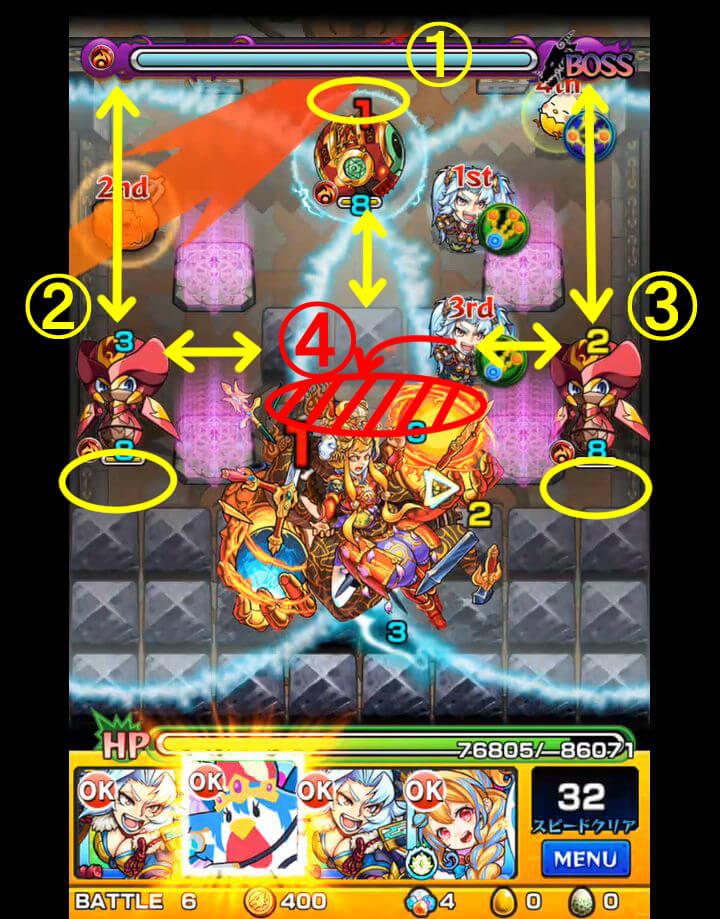 覇者の塔 31階 BATTLE6 各敵の倒し方