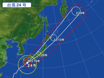 2018 0930 台風24号