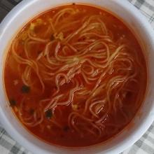 液体スープを混ぜて出来上がり!