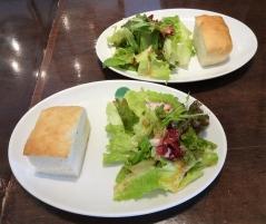 サラダ+フォカッチャ ×2
