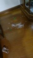 落ちたグラス