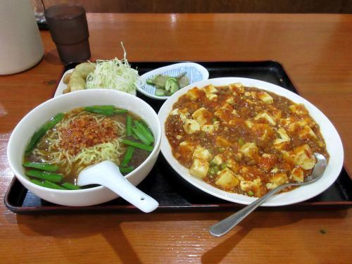 日替りランチ(四川麻婆豆腐、小ラーメンに変更)