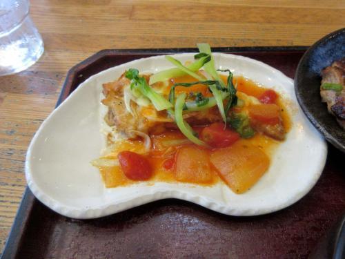 メカジキのチーズ焼 ナポリ風