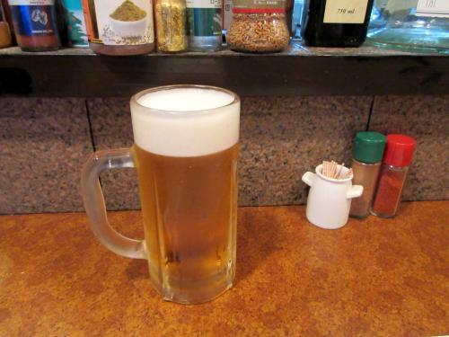 ドリンクは生ビールで