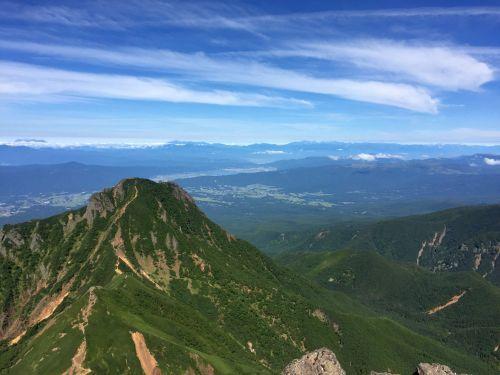 阿弥陀岳と北アルプス