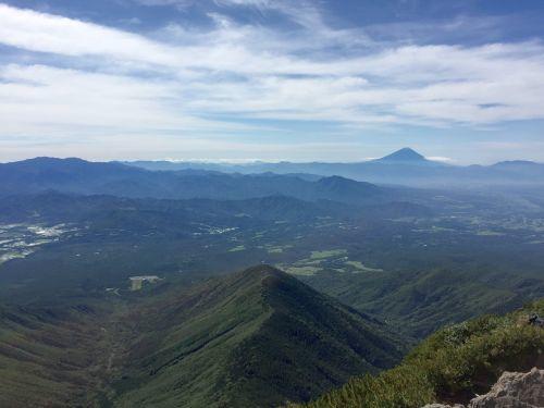 富士山と奥秩父