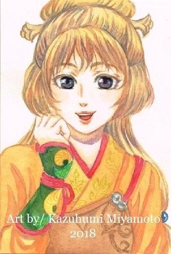 「天星神話」の本編にでるか不明な兎娘さん(九似)。髪のたれている部分はウサ耳イメージでふたつに分かれてます。