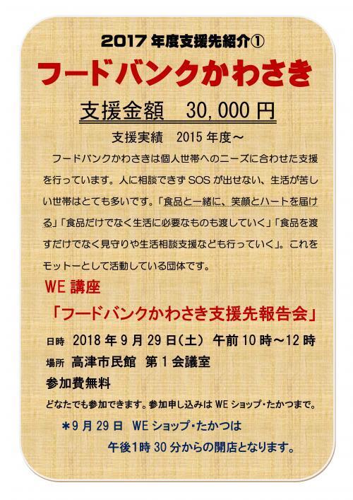 201809フードバンクかわさき報告会