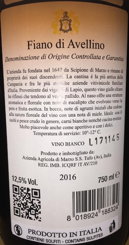 Fiano di Avellino Cantine di Marzo 2016 part2