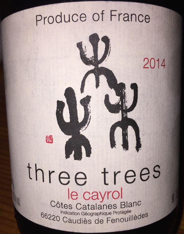 Domaine de Majas Three Trees Blanc le Cayrol 2014 part1