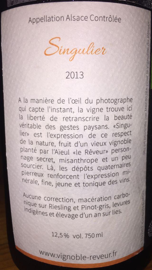 Vignoble du Reveur Singulier sec 2013 part2