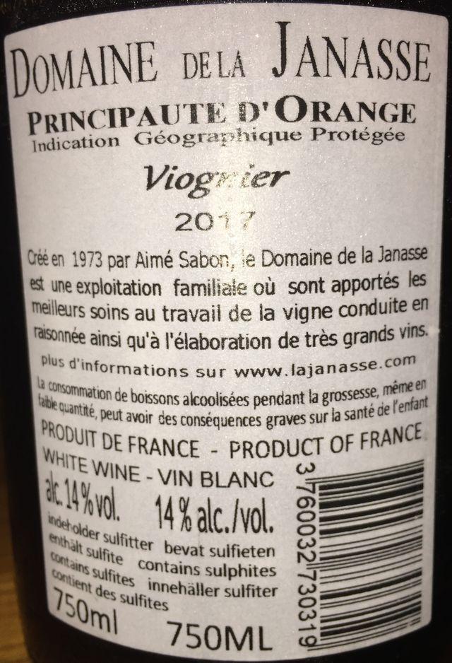 Vionier Domaine de la Janasse 2017 part2