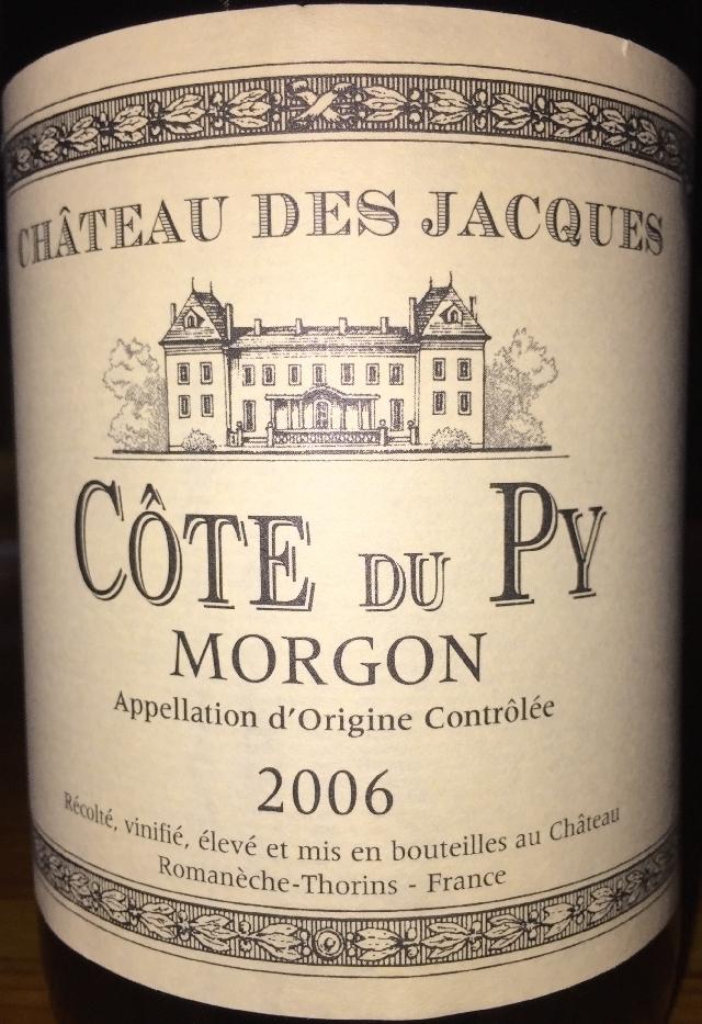 Cote du Py Morgon Chateau Des Jacques Luis Jadot 2006