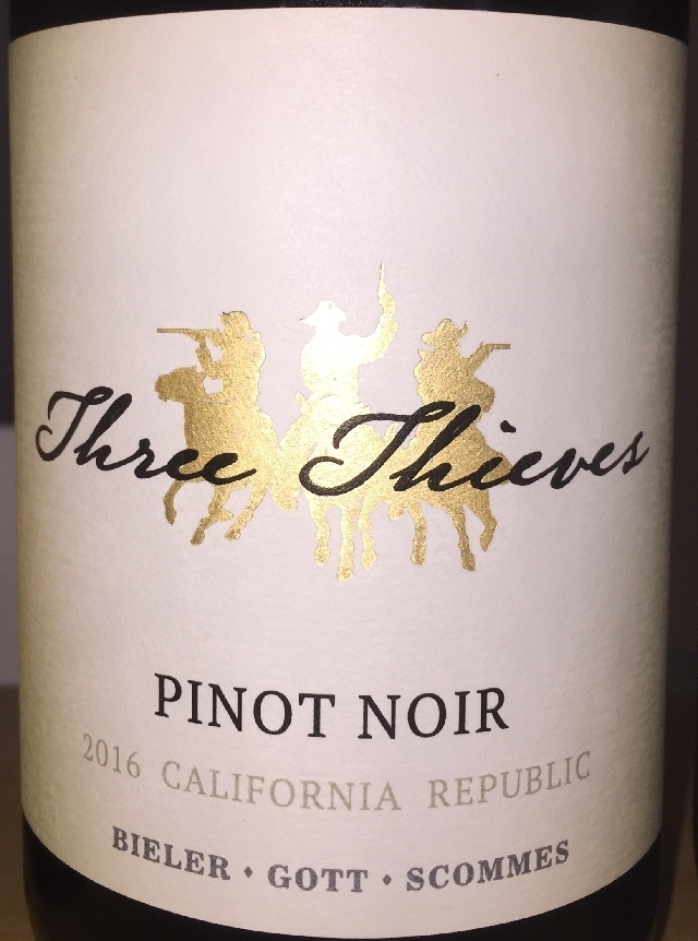 Three Thieves Pinot Noir California 2016 part1