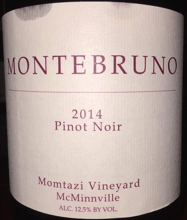 Montebruno Pinot Noir Momtazi Vineyard McMinnville 2014 part1