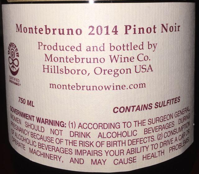 Montebruno Pinot Noir Momtazi Vineyard McMinnville 2014 part2