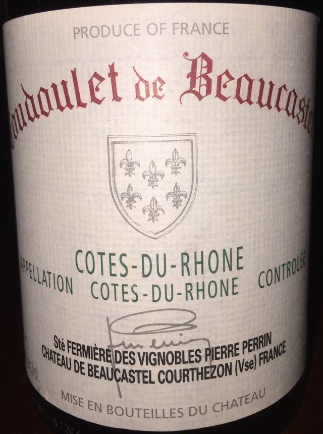 Coudoulet de Beaucastel Cotes du Rhone Chateau de Beaucastel 2006 part1