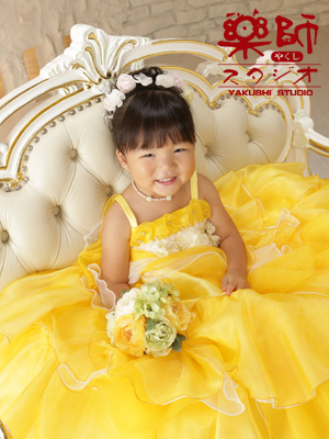 七五三 三歳 お着物とドレスで前撮りの巻