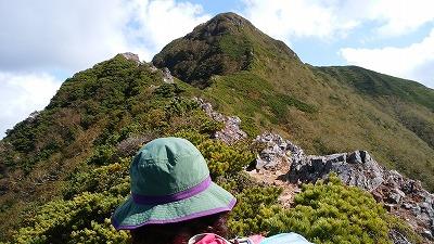斜里岳玉石展望岩より頂上
