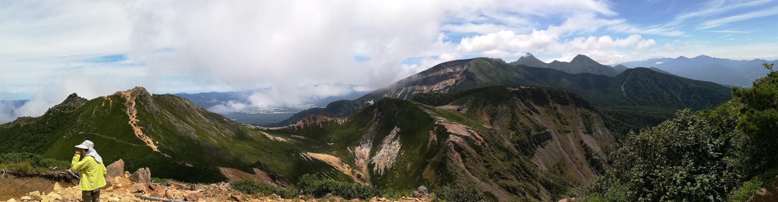 西天狗山頂から東天狗山頂・根石岳・硫黄岳・赤岳