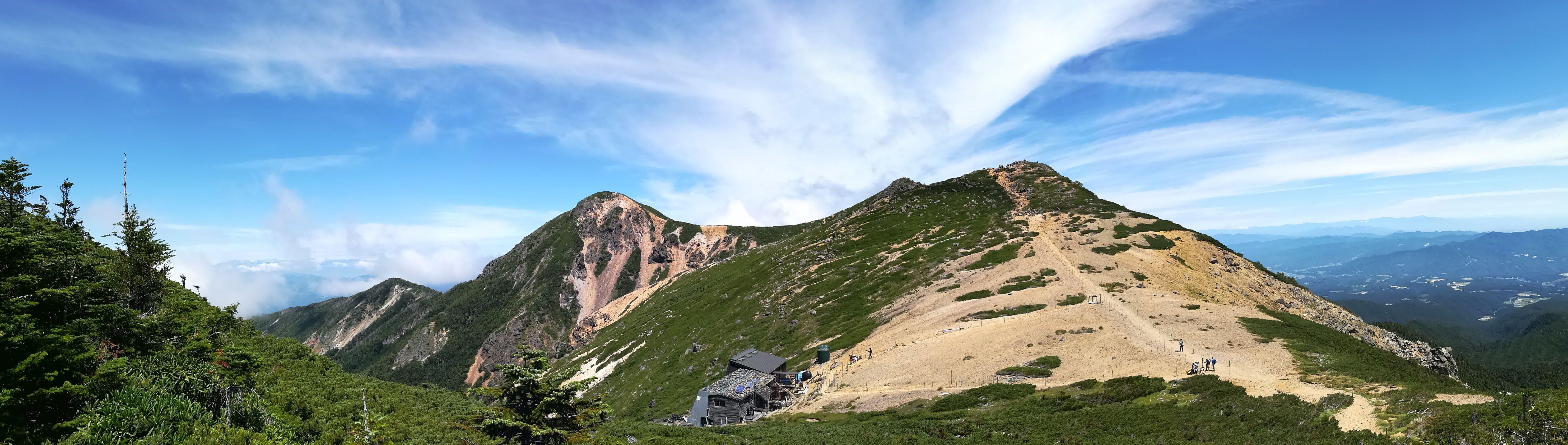 箕冠山からの根石岳と天狗岳3