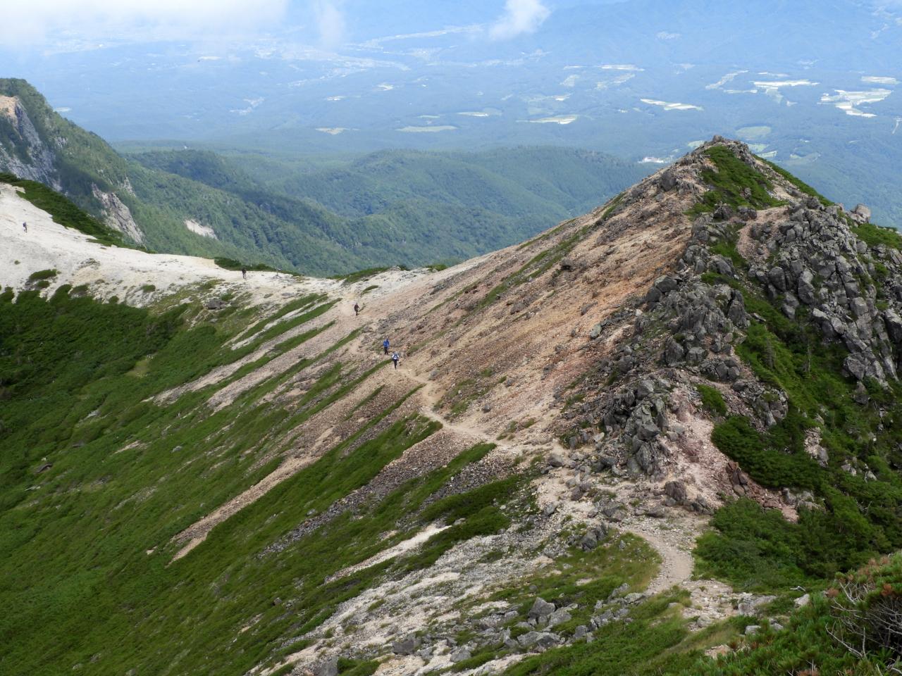 根石岳から白砂新道