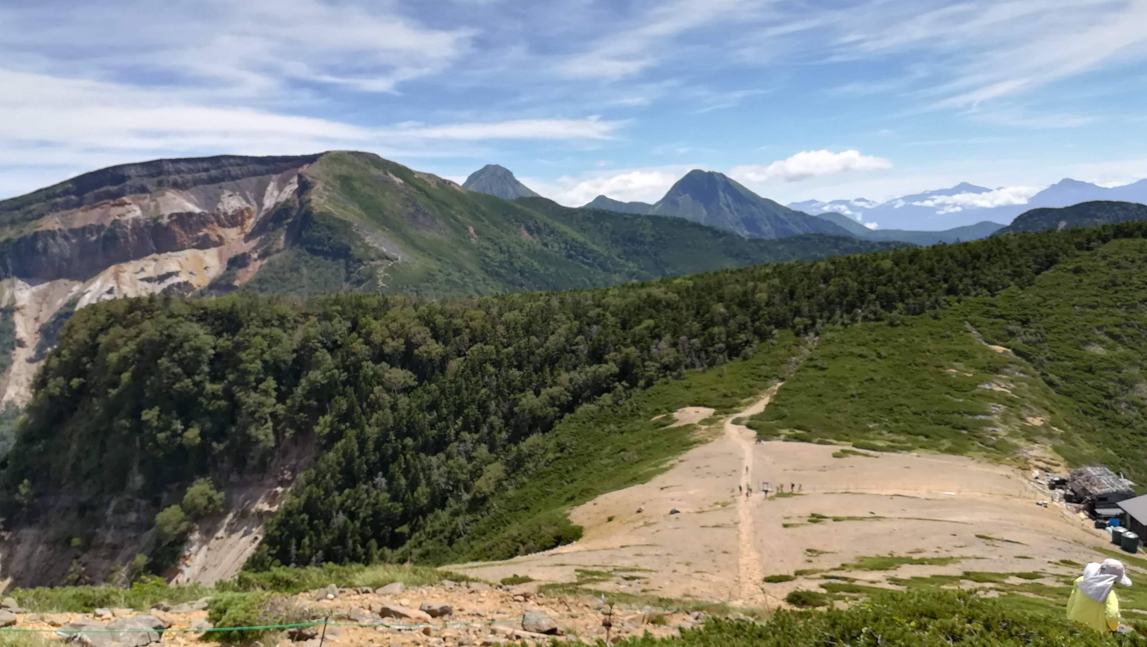根石岳から硫黄岳・赤岳