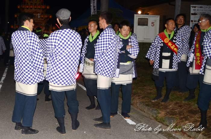 安知生だんじり(屋台) 祭り装束