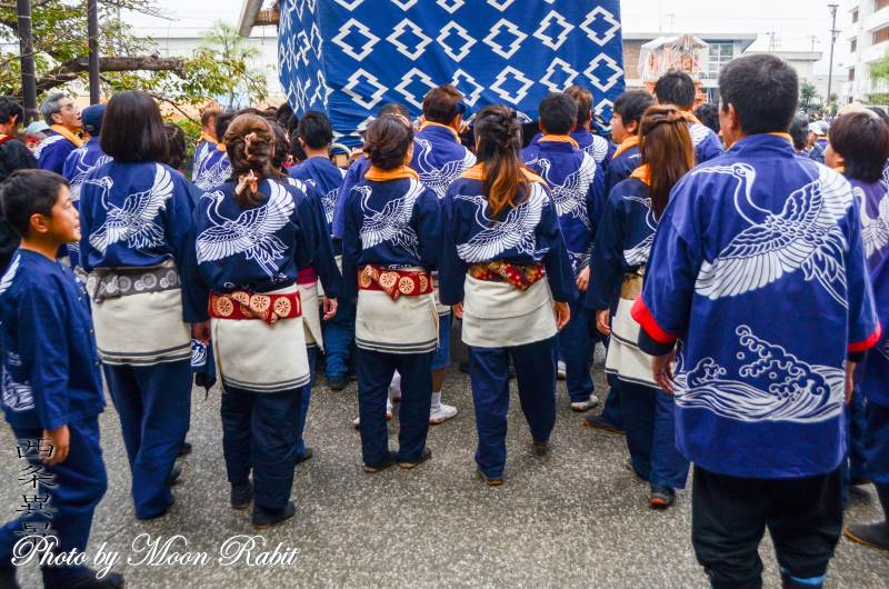 北之町中組屋台(だんじり) 祭り装束