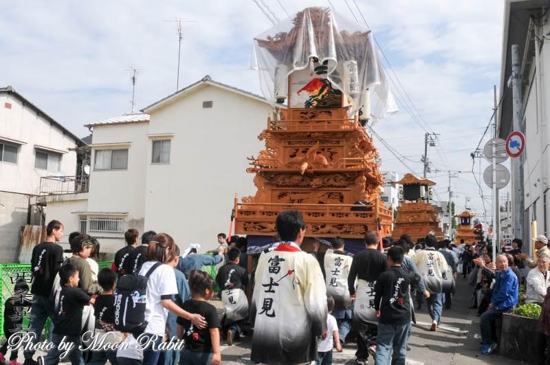 富士見町だんじり(屋台) 統一運行