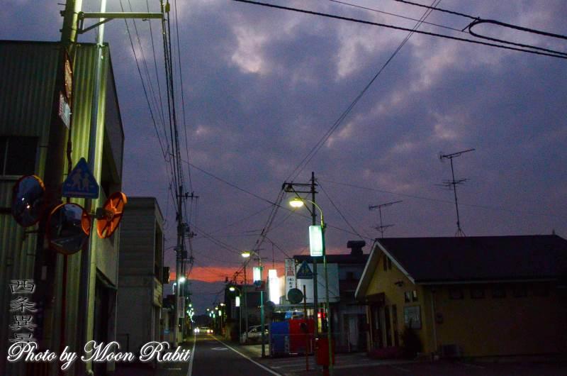 小松町中町通り商店街の日暮れ 愛媛県西条市小松町